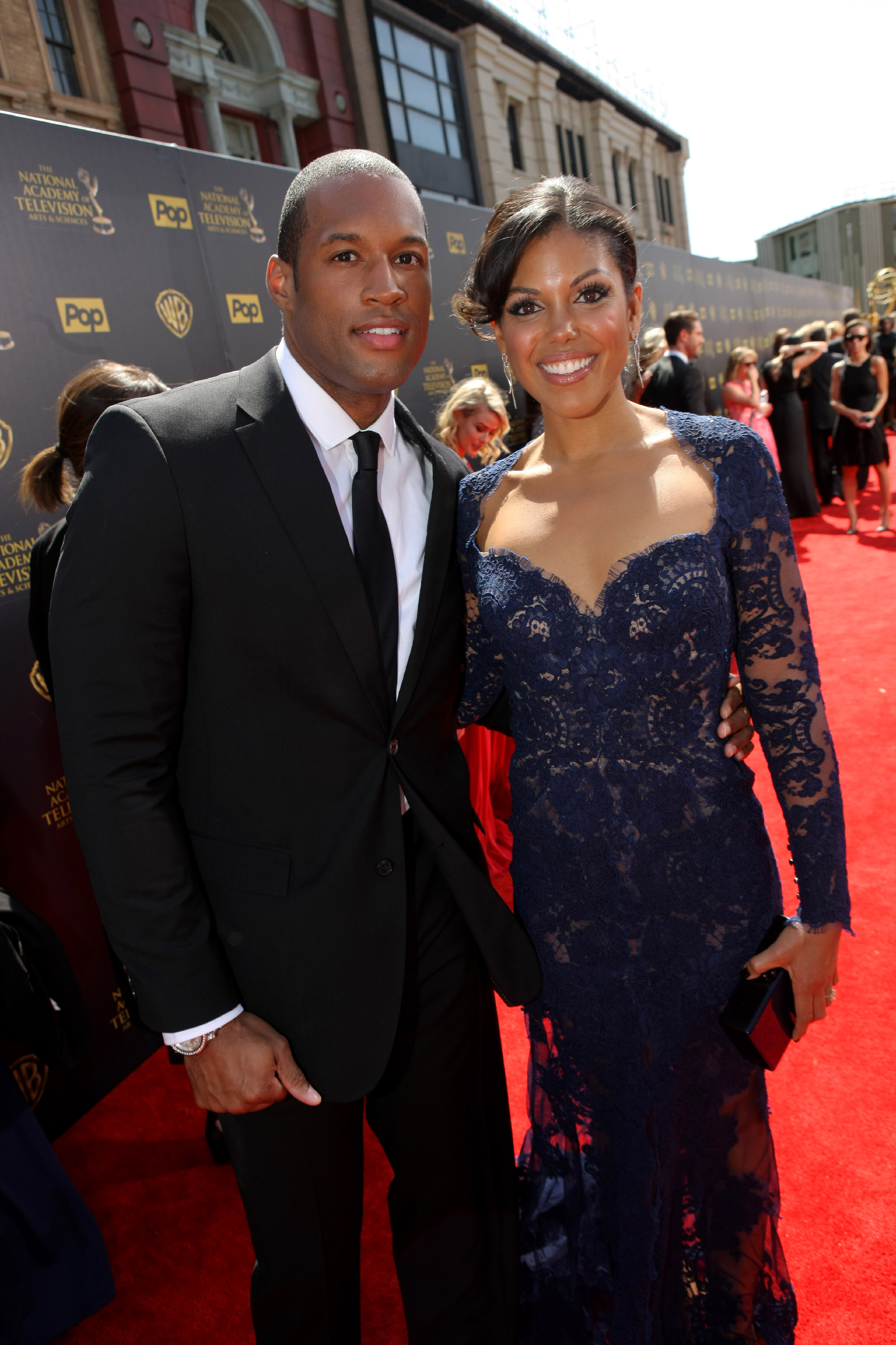 Karla Mosley and Lawrence St. Victor