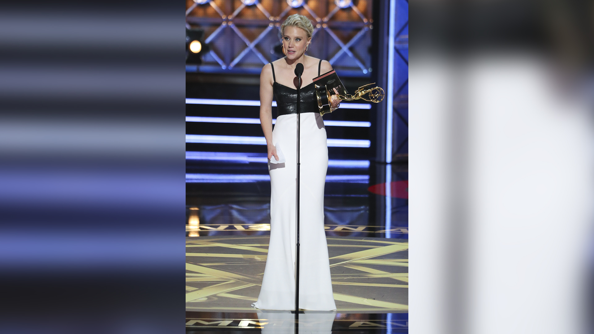 Kate McKinnon wins Outstanding Supporting Actress in a Comedy Series at The 69th Emmy Awards.