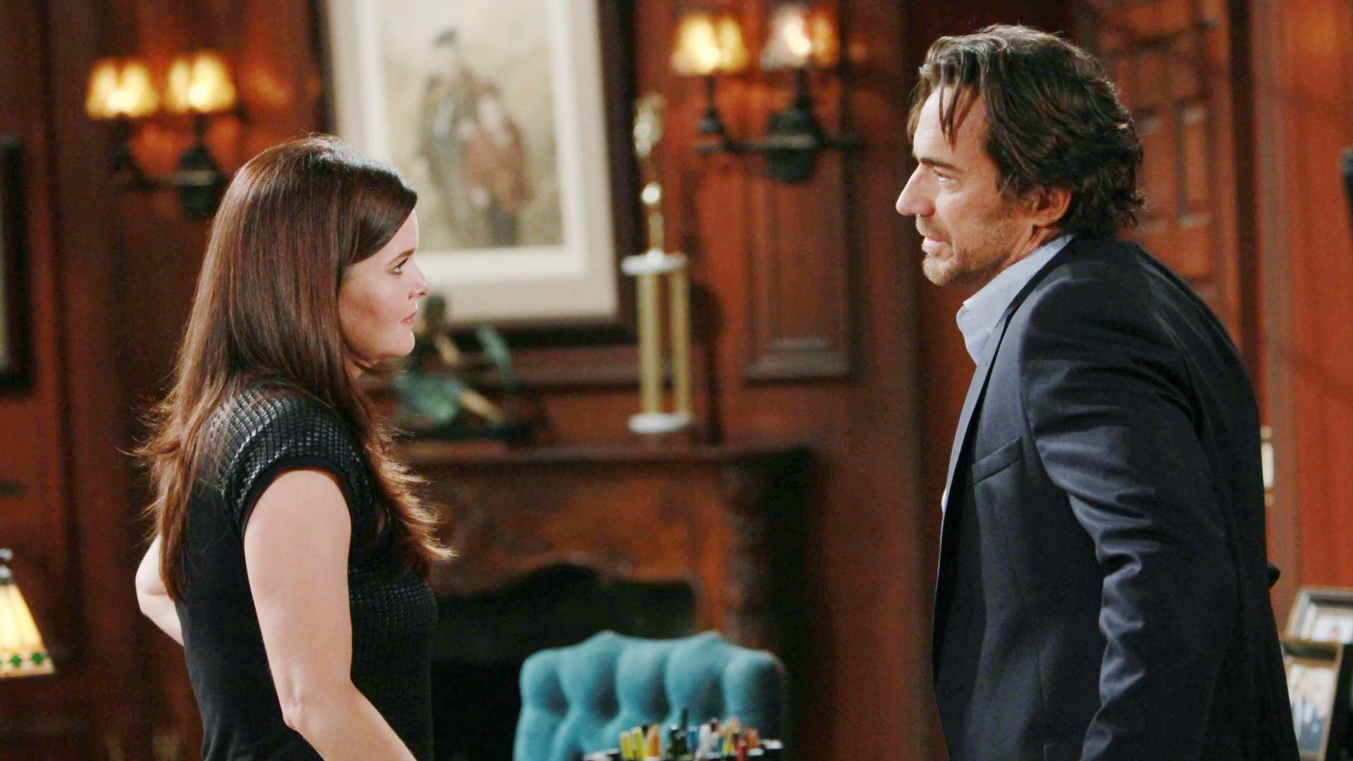 Ridge reprimands Katie for intruding in his business and causing a disturbance in his family.
