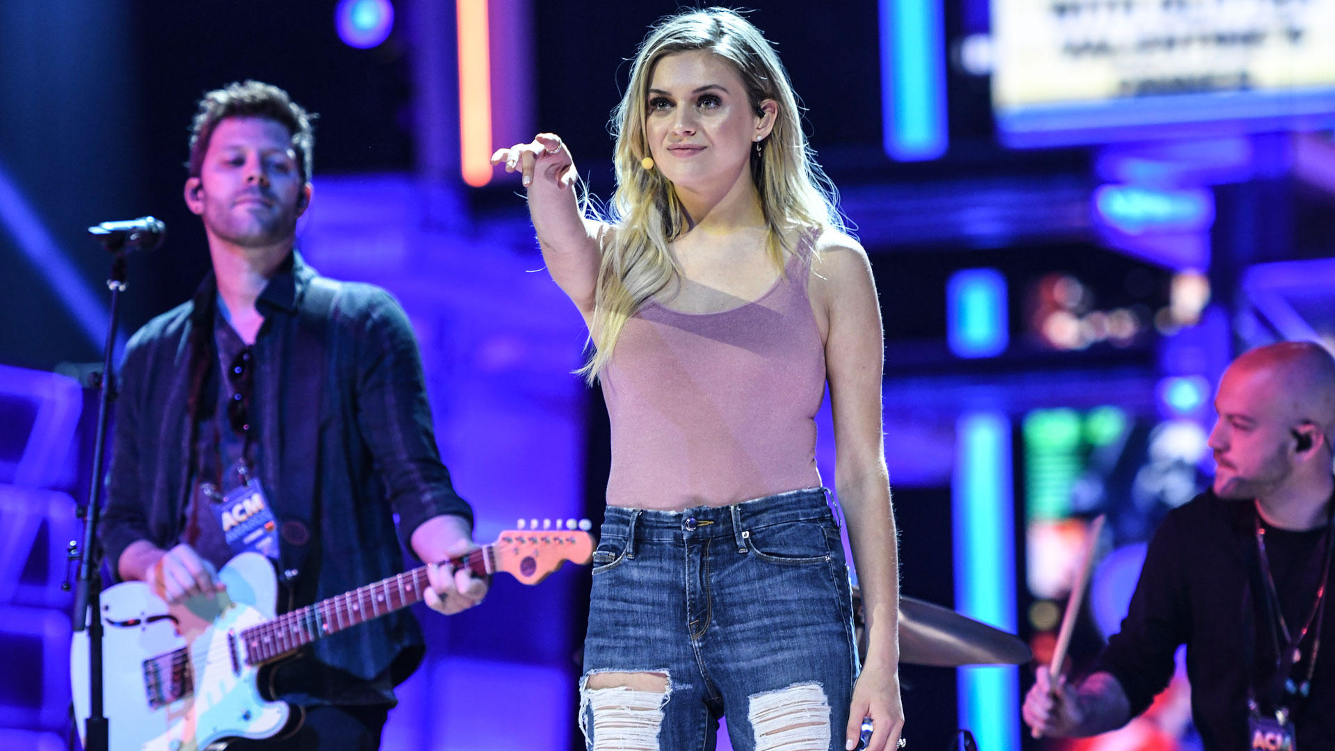 Kelsea Ballerini is graceful like a ballerina while rehearsing for her upcoming ACM performance.
