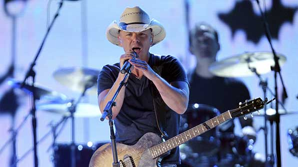 Kenny Chesney is nominated for four awards.