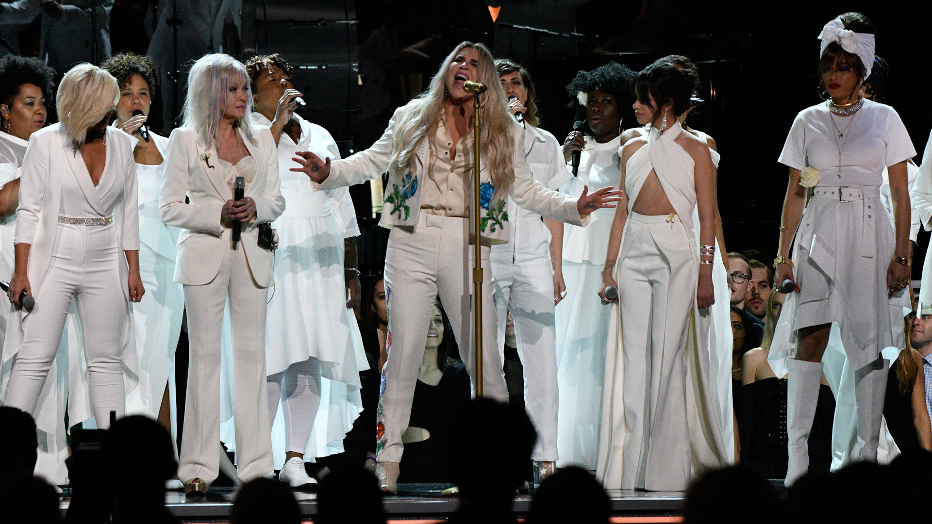 Kesha, Cyndi Lauper, Camila Cabello, Julia Michaels, and Andra Day perform Kesha's deeply emotional, 2018 GRAMMY-nominated single,