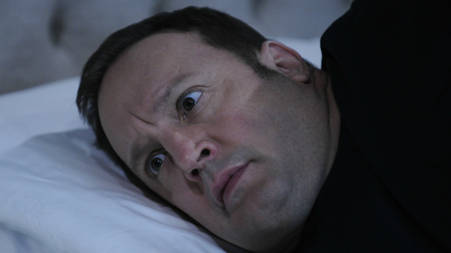 Kevin spends the night wide-awake.