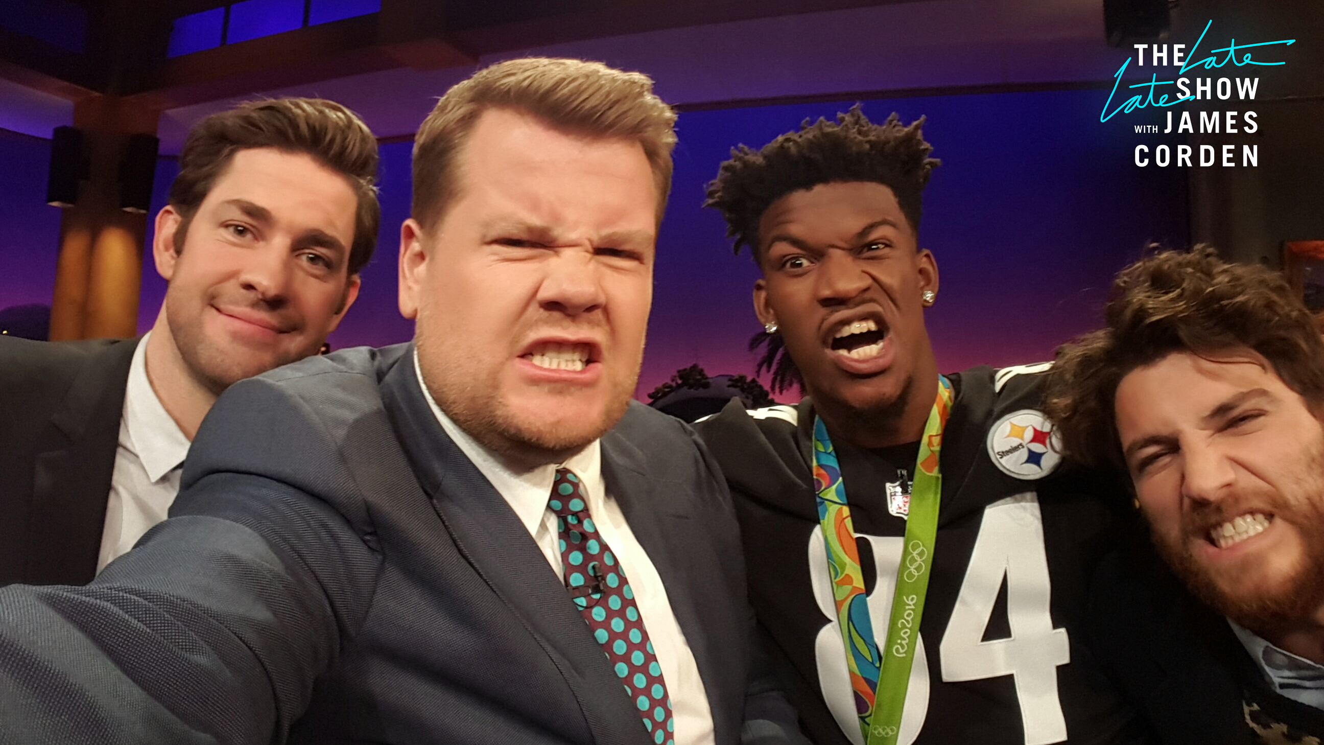 John Krasinski, Jimmy Butler, and Adam Pally