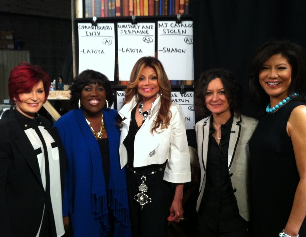 Backstage Photo: The Hosts with La Toya Jackson
