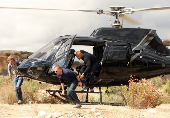 Arriving via Helicopter