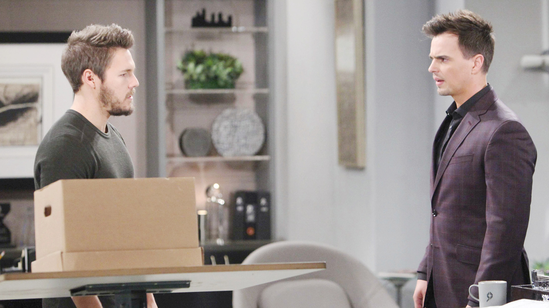 Liam floors Wyatt by sharing the news that their father, Bill, slept with Liam's wife, Steffy.