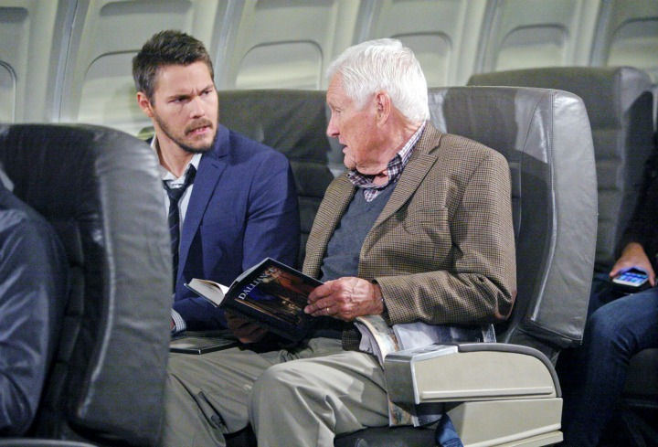 Liam shares his women troubles with an unsuspecting and, at first, unwilling passenger on his way home to Steffy.