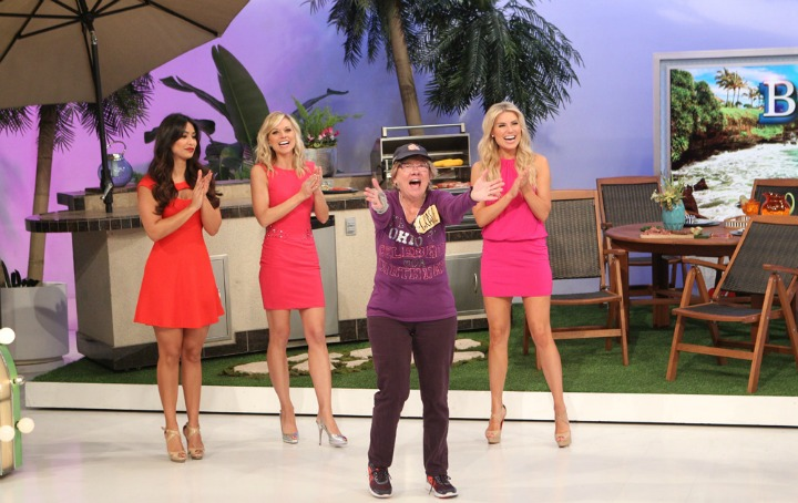 One contestant looks very excited!