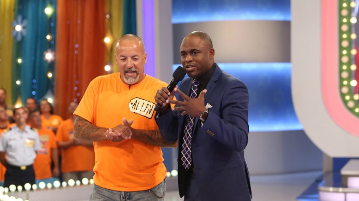 Wayne tries his hand at hosting on The Price Is Right.