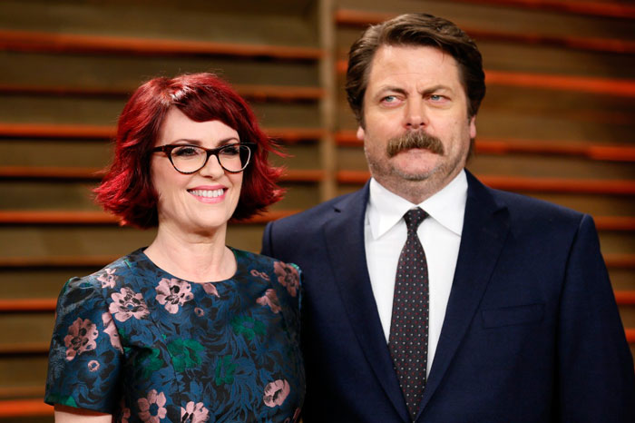 Megan Mullally + Nick Offerman = Megick Mulloff