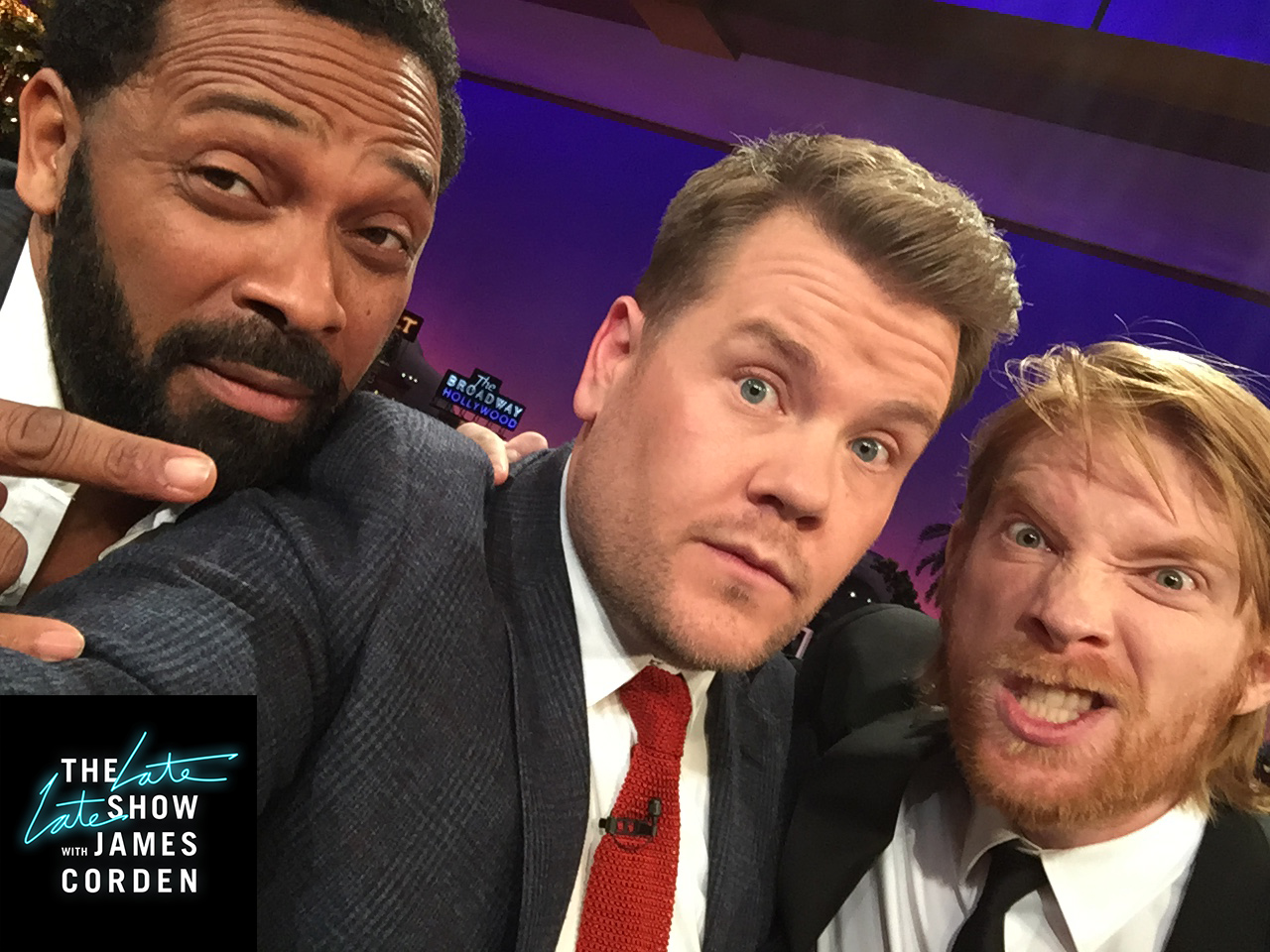 Mike Epps and Domhnall Gleeson