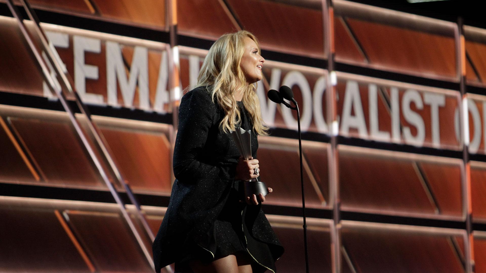 Miranda Lambert wins Female Vocalist of the Year at the 53rd ACM Awards.
