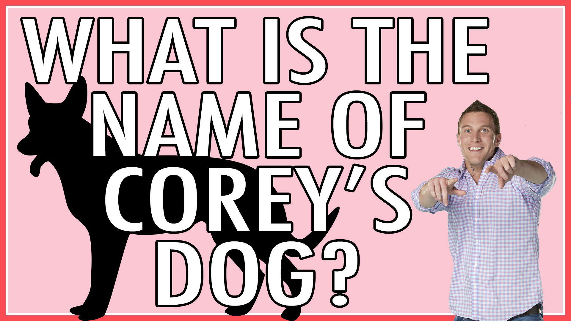 Question: What is the name of Corey's dog?
