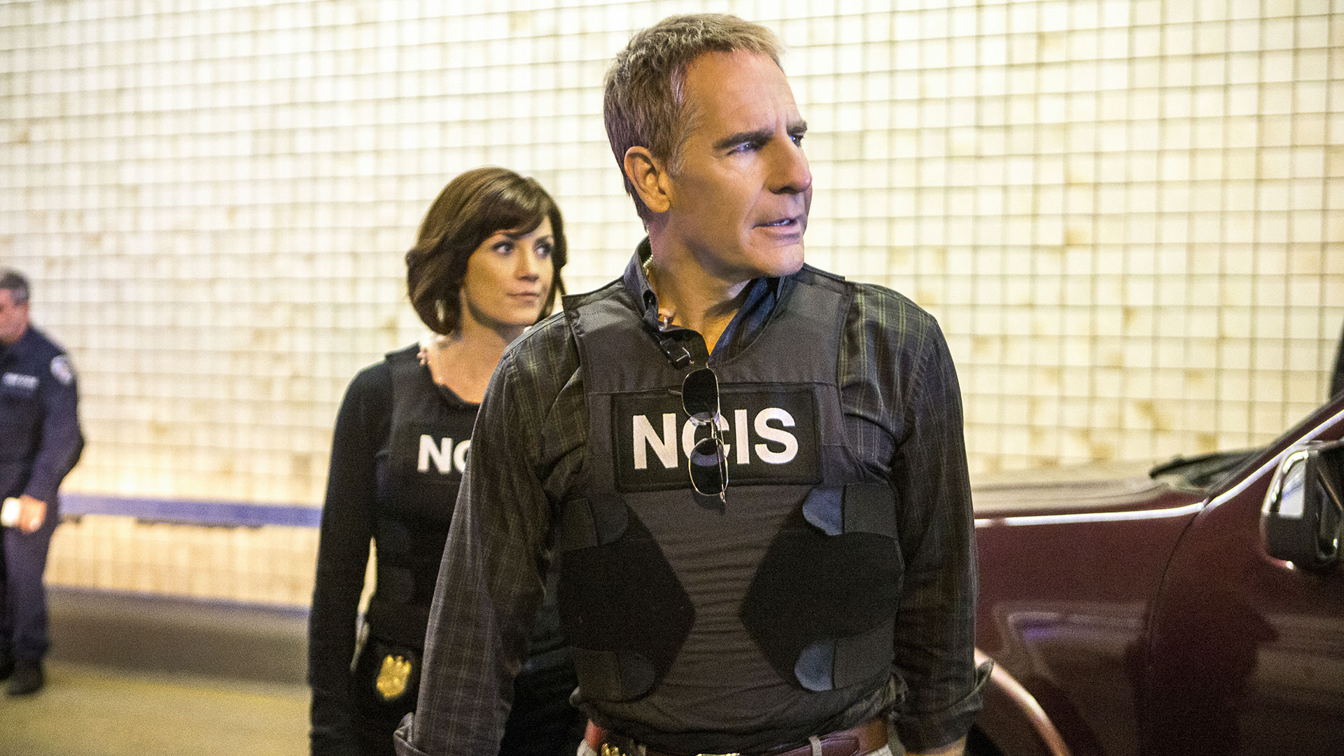 Zoe McLellan as Meredith Brody and Scott Bakula as Agent Dwayne Pride