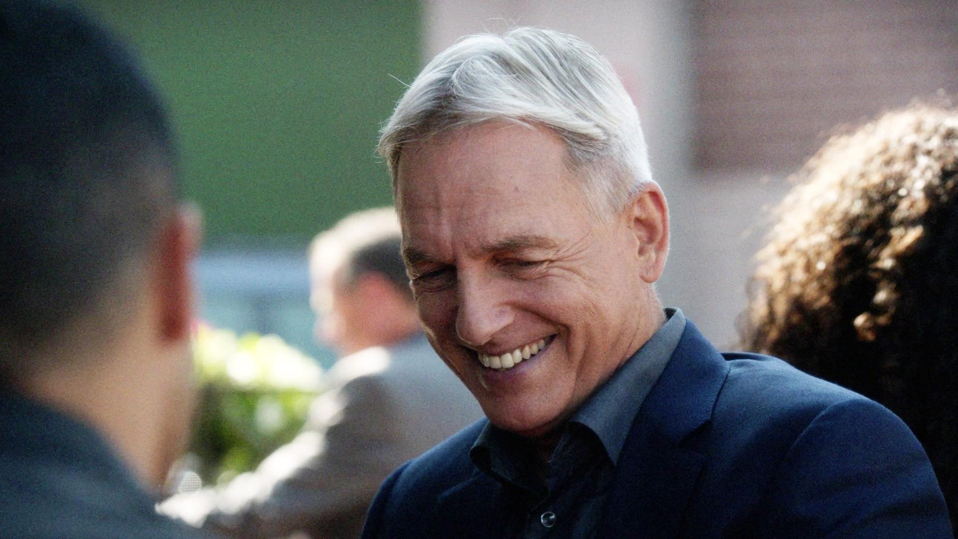 He got Gibbs to smile.