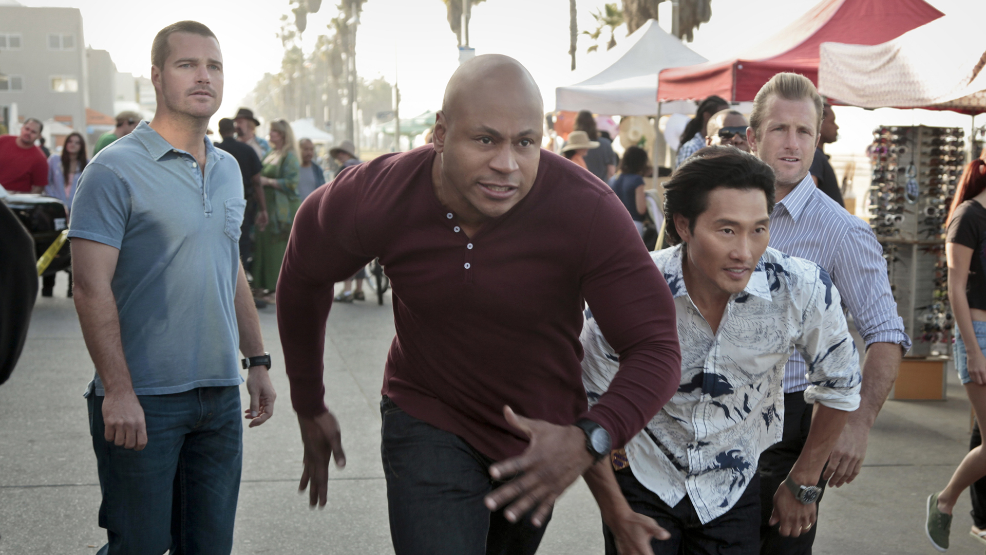 Danny and Chin on NCIS: Los Angeles