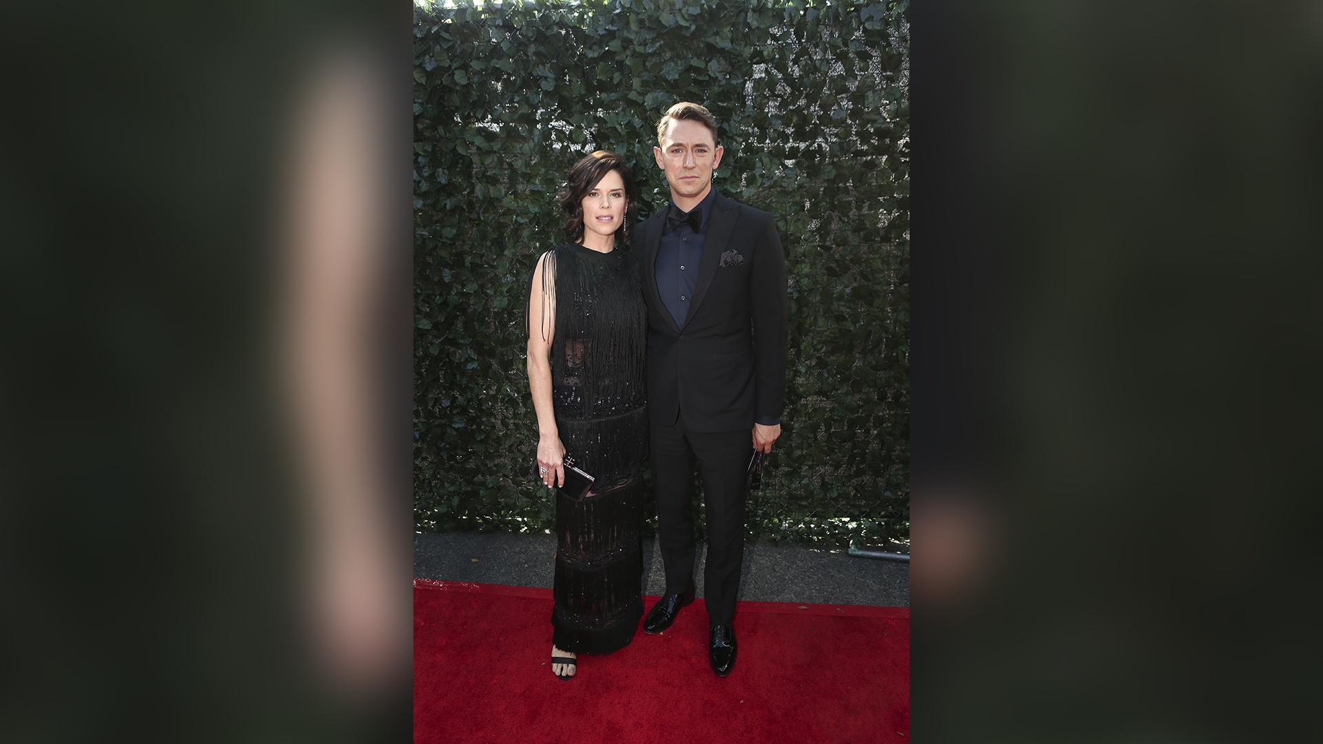 Neve Campbell and husband JJ Feild
