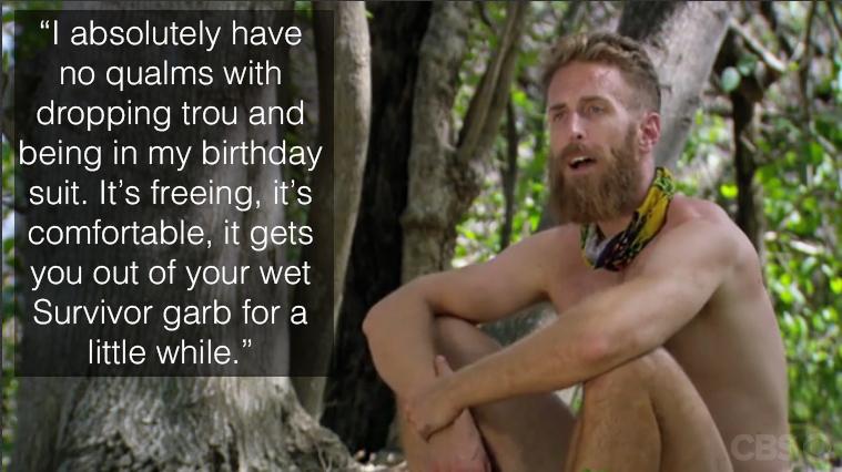 Max speaks on his nudity around camp.