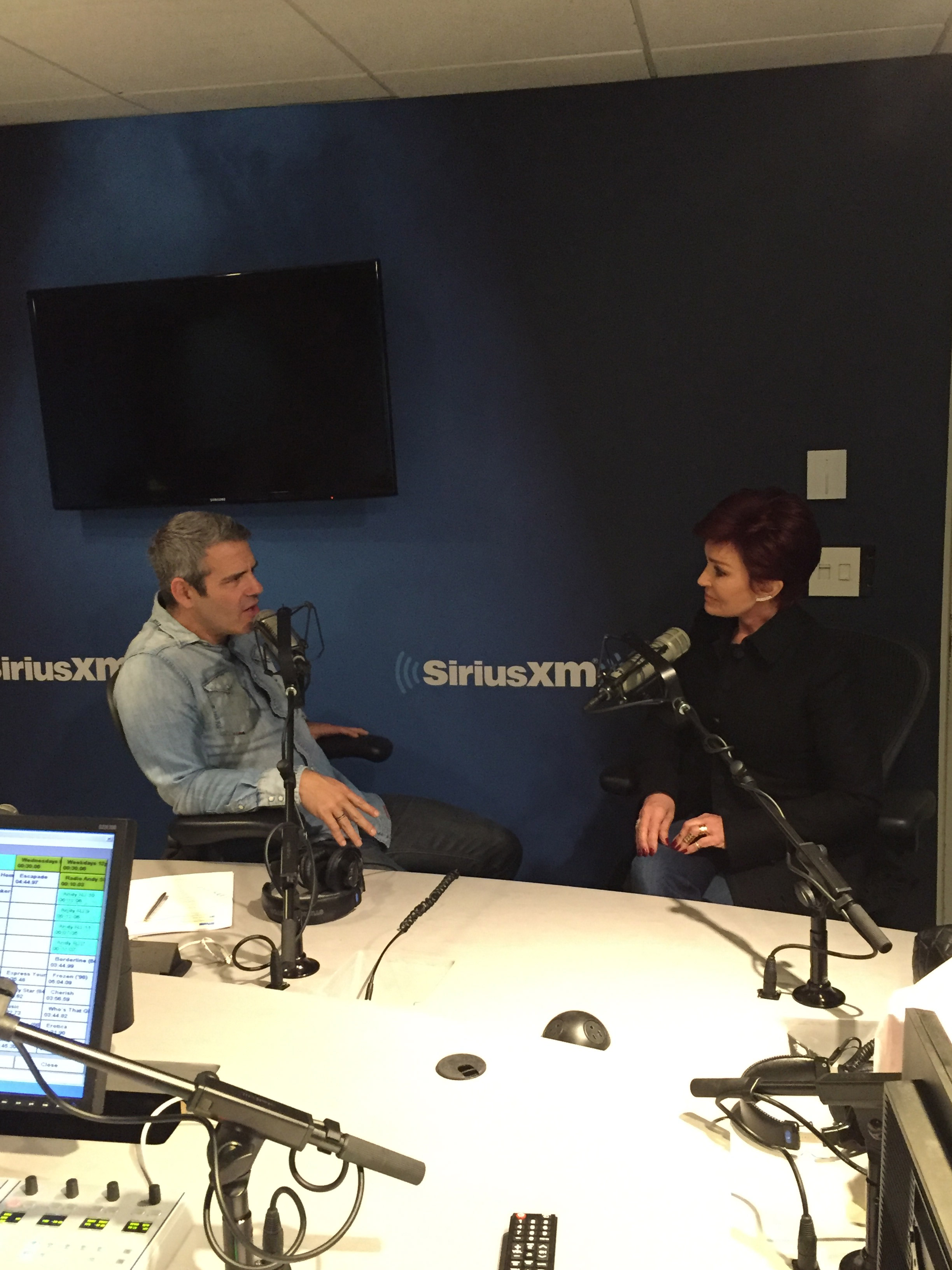 Andy Cohen chatted with Sharon