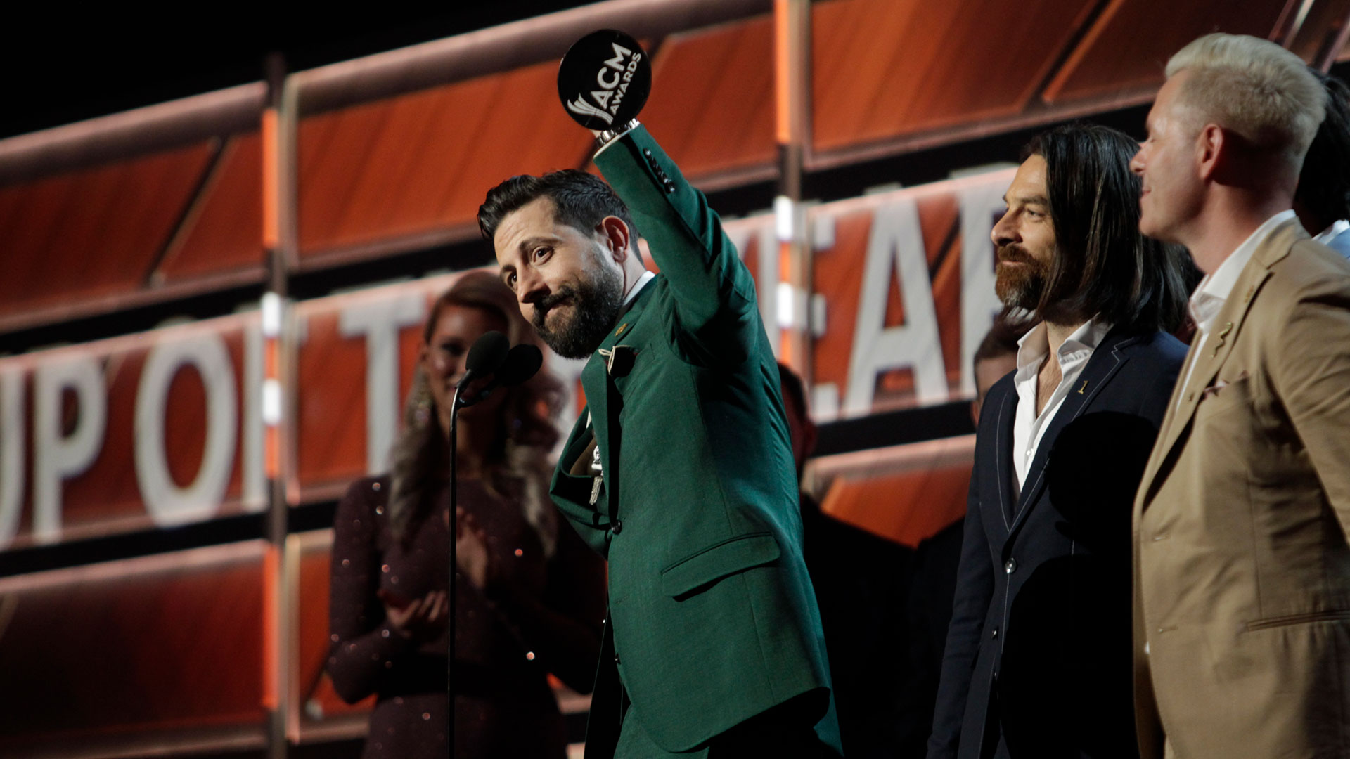 Old Dominion win Vocal Group of the Year at the 53rd ACM Awards.