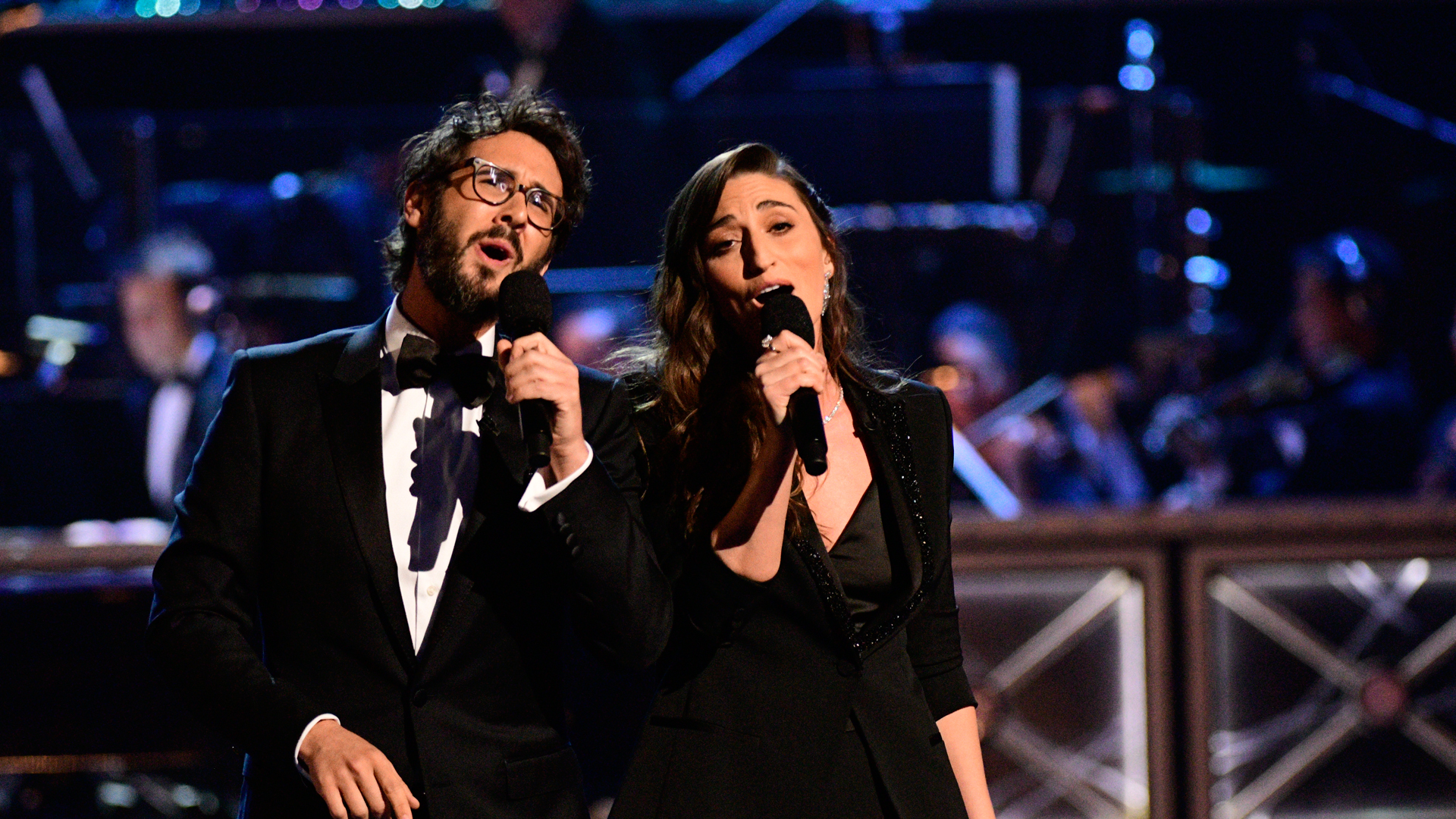Josh Groban and Sara Bareilles perform the opening number at the 2018 Tony Awards.