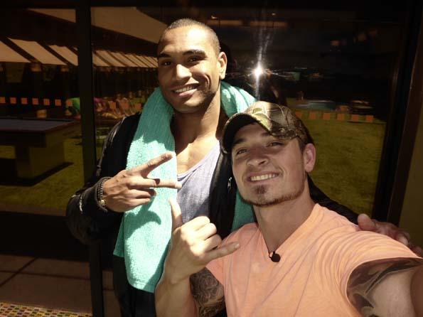 Caleb's selfie with Devin