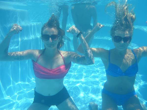 Ladies underwater
