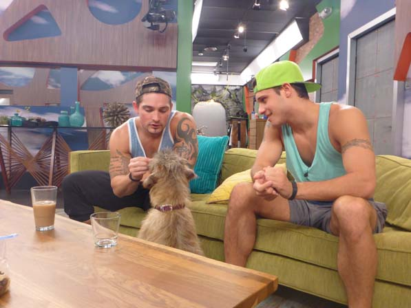 Caleb and Cody play with Izzy