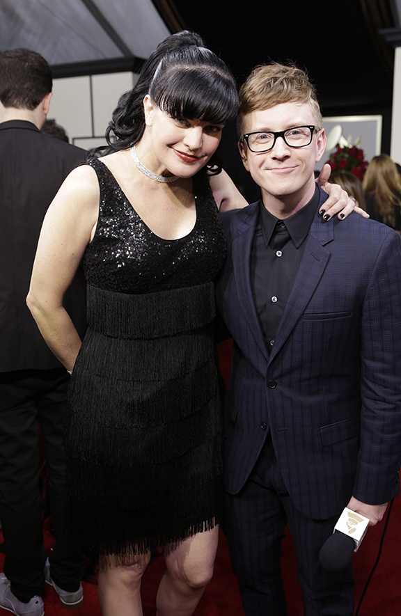 GRAMMYs 2016: Pauley Perrette and Tyler Oakley