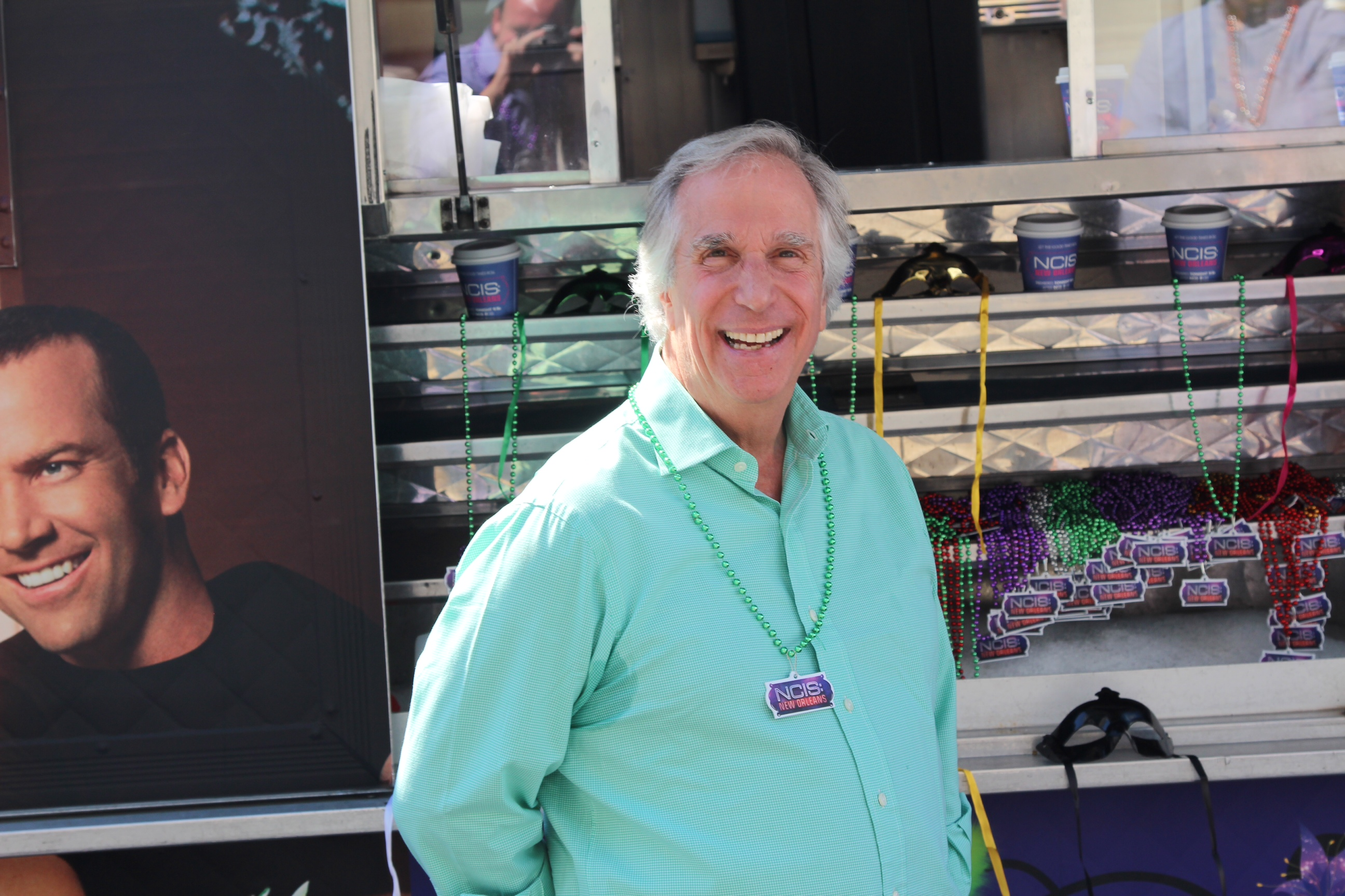 Henry Winkler stops by the NCIS New Orleans Beignet Truck!