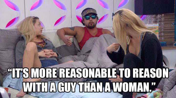 James campaigns to evict Shelli.