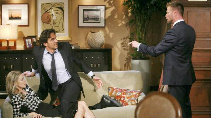 Rick threatens Ridge and Caroline as they grow closer.