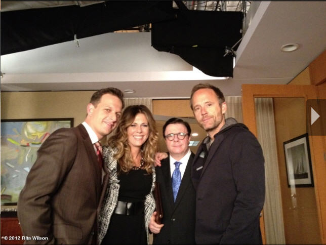 Rita Wilson Tweets On the Set