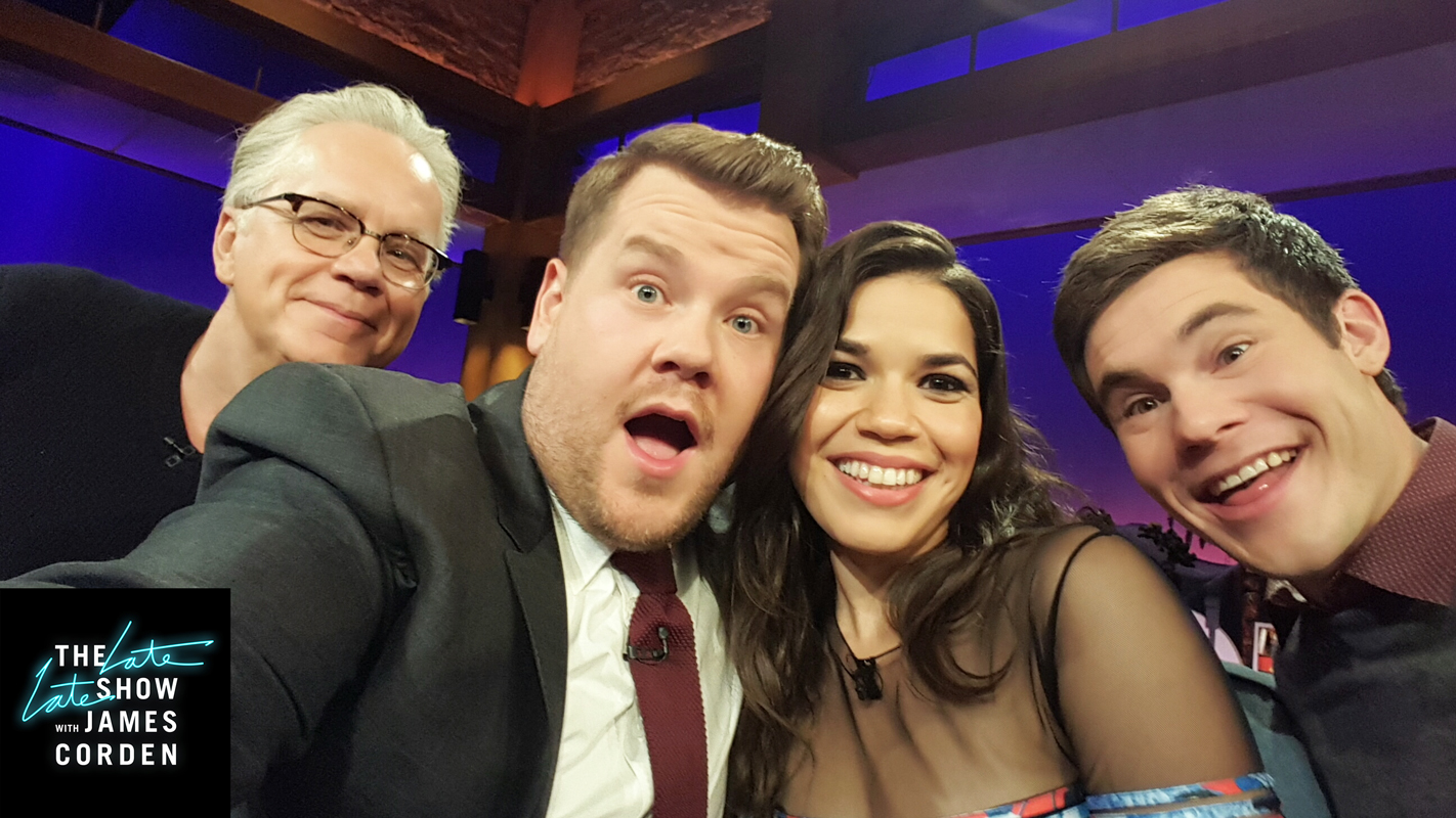 Tim Robbins, America Ferrera, and Adam Devine
