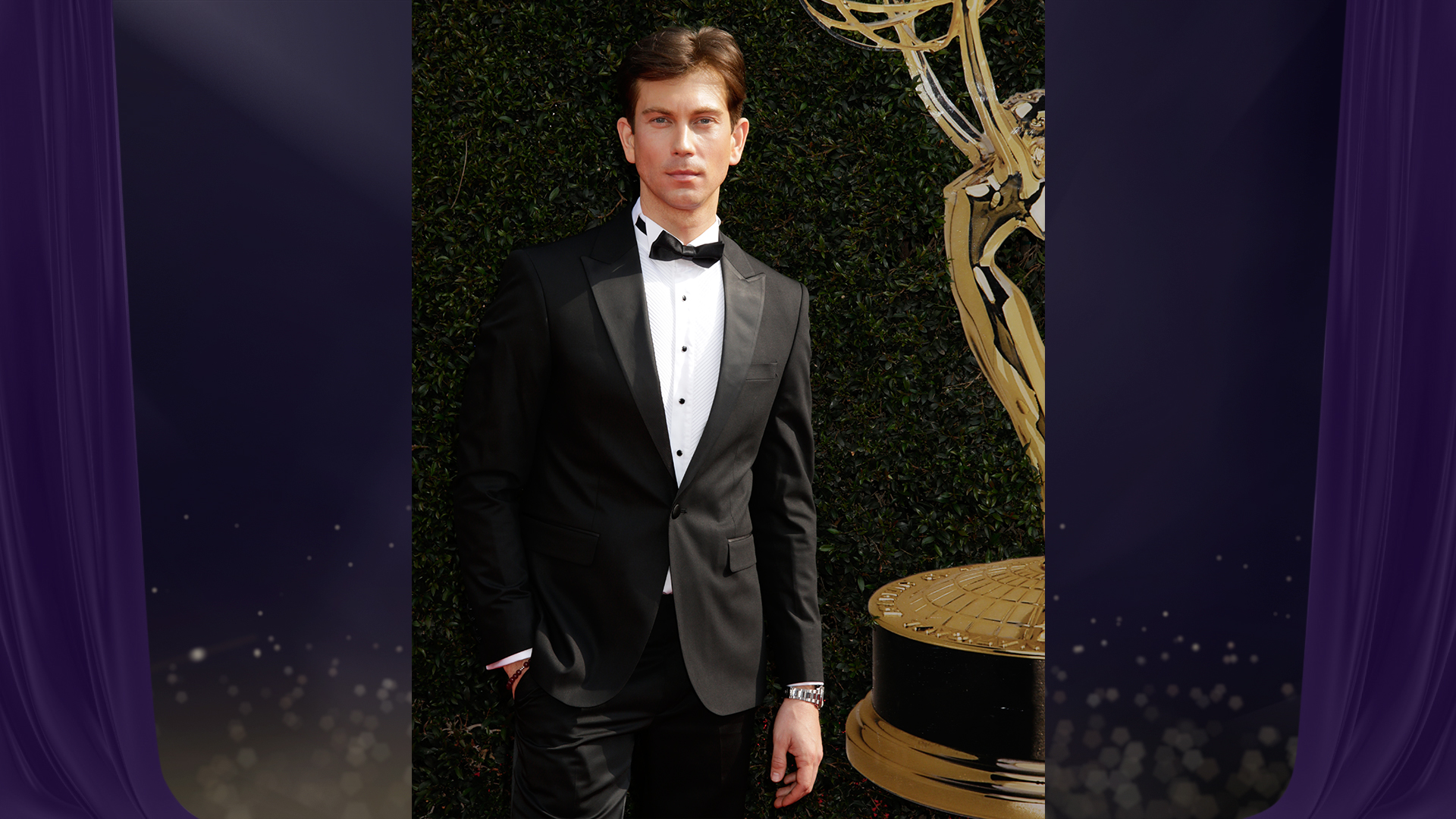 The Young and the Restless star Ryan Ashton, who's nominated for Outstanding Guest Performer in a Drama Series, sure knows how to smize.