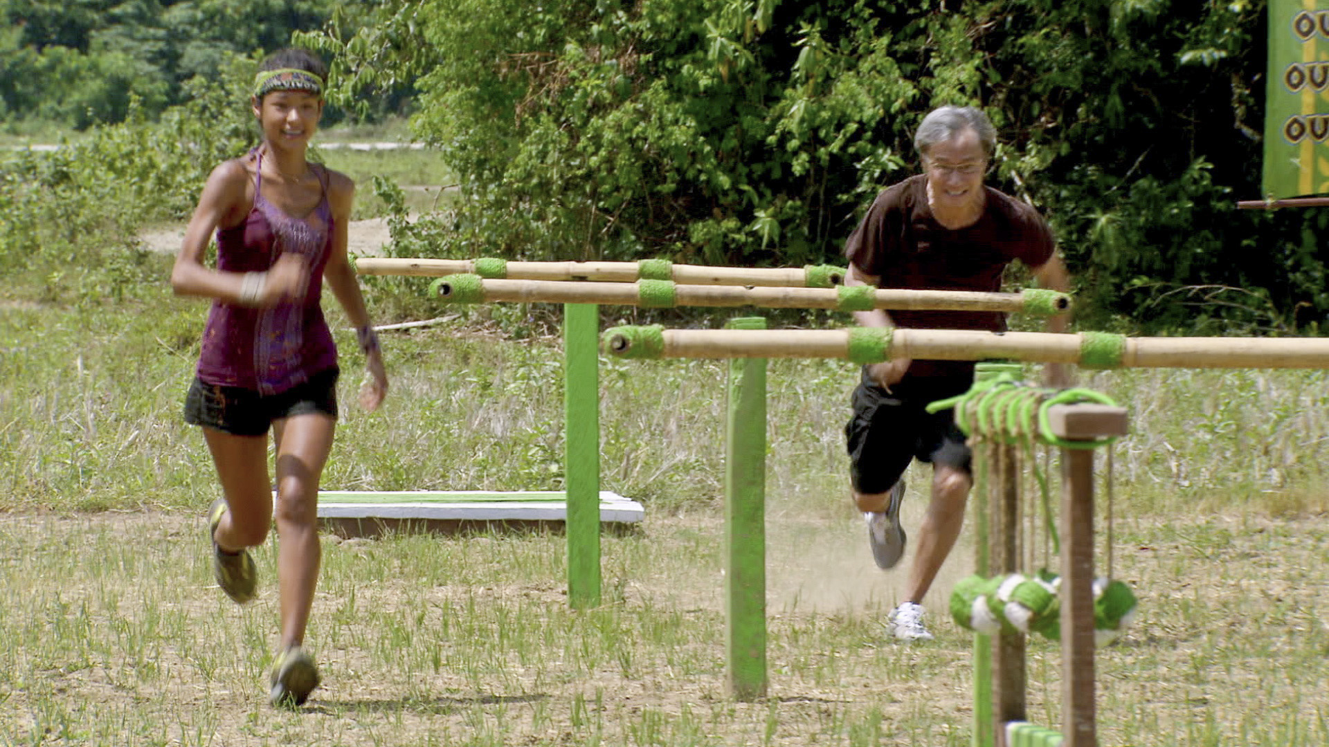 Brenda and her father compete in