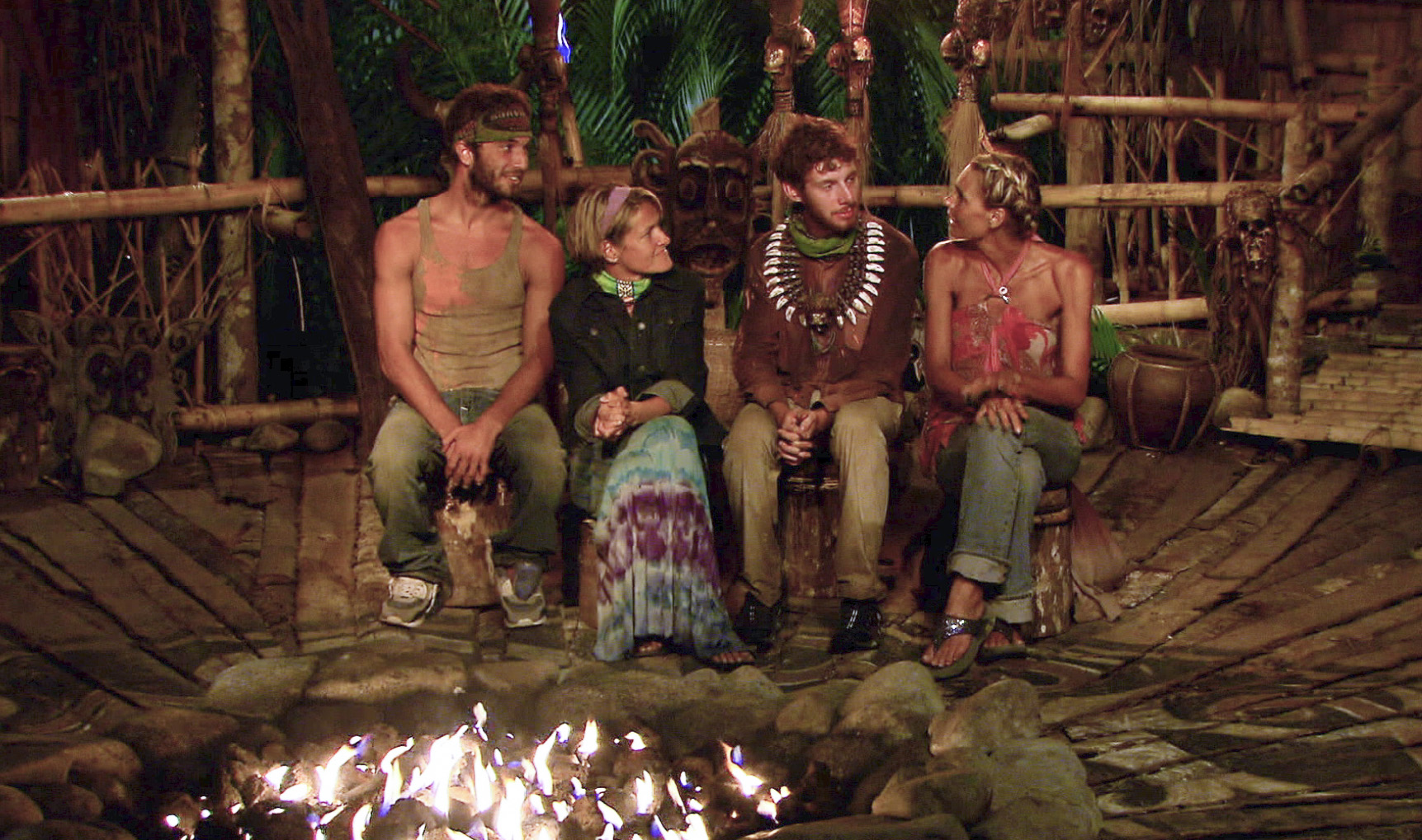 Sitting at tribal council in the Season 26 Finale