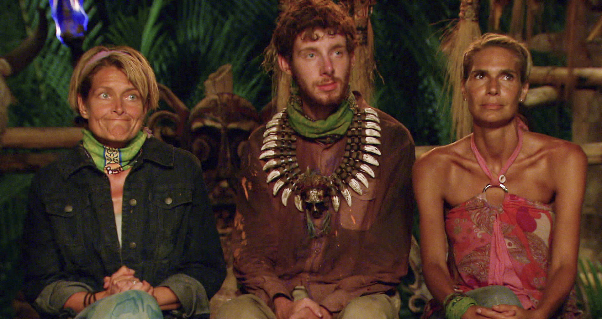 Final 3 at tribal council in the Season 26 Finale