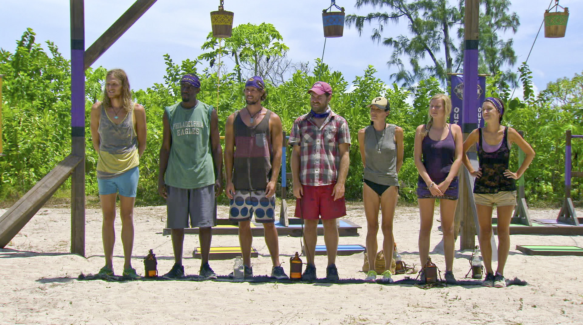 Lining up for Immunity in Season 27 Episode 11