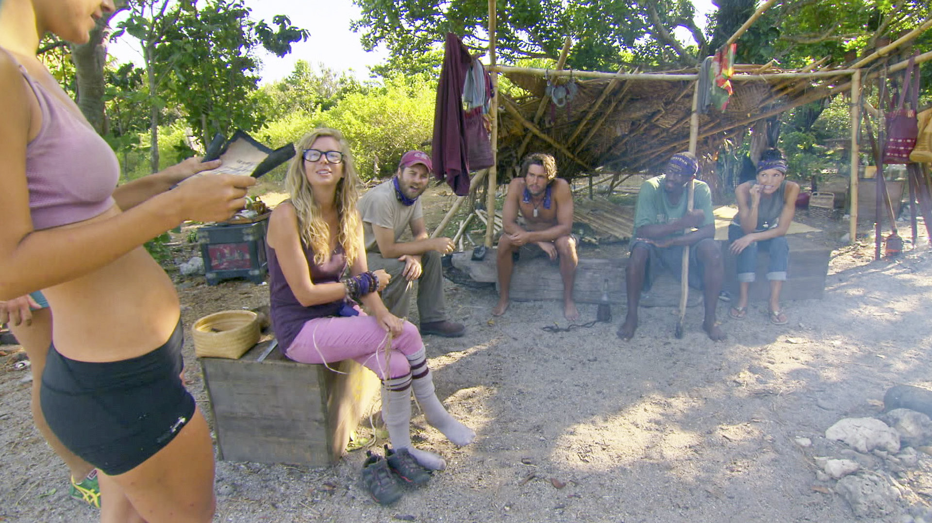 Hanging out at camp in Season 27 Episode 11