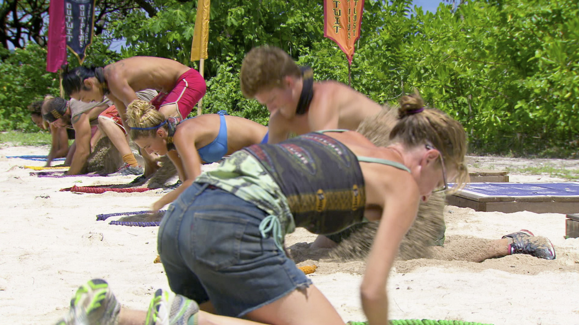 Competing hard in Season 28 Episode 10
