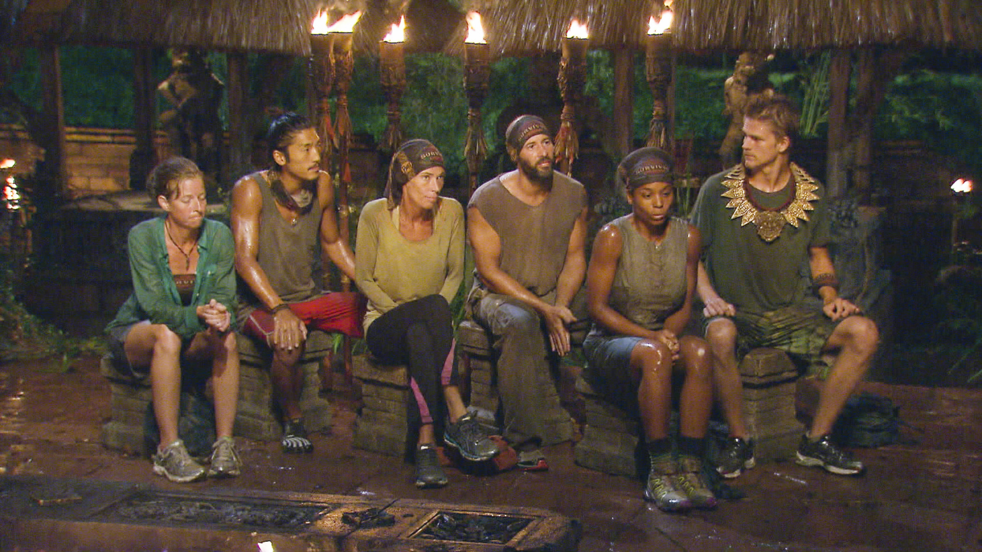 Solarrion Tribe at Tribal Council in Season 28 Episode 11