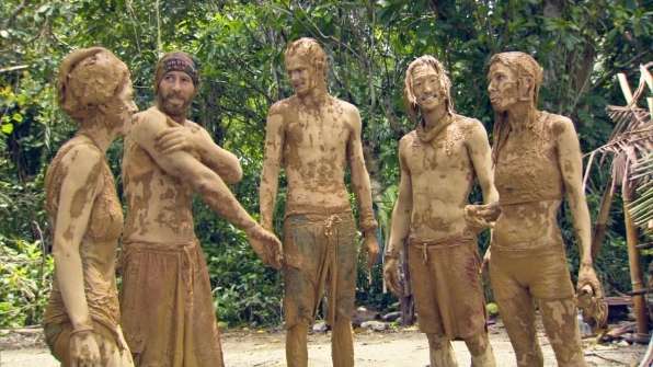 Tony holds the record for collecting the most mud in Survivor history at 102lbs.