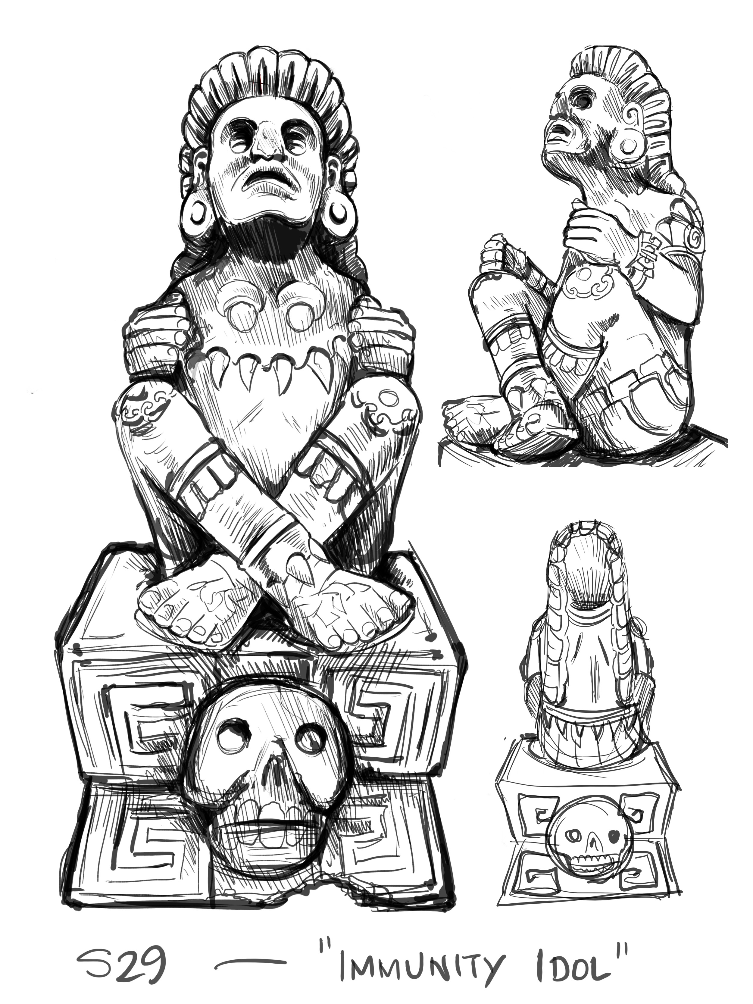 Immunity Idol sketches