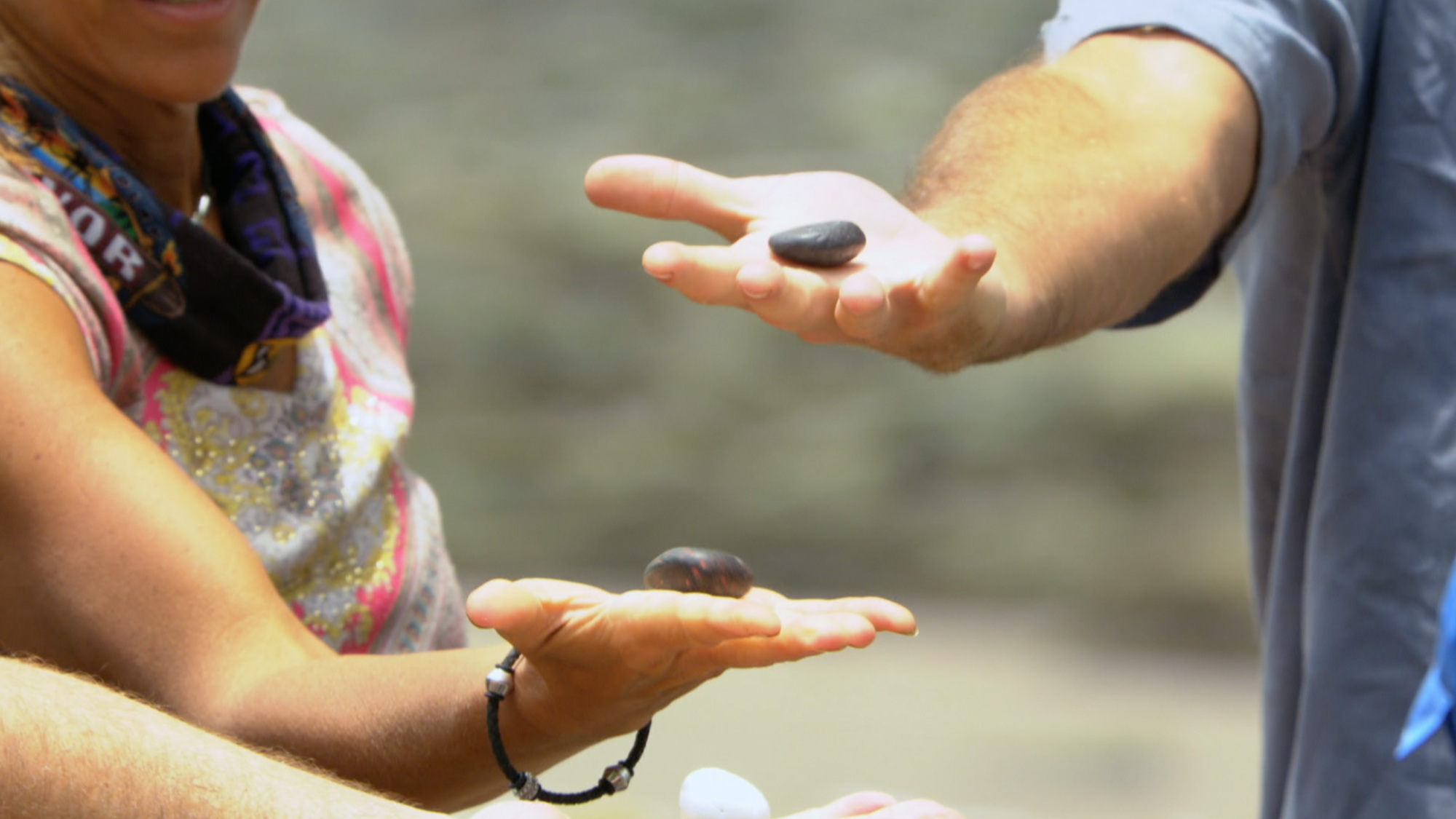 Dan picks the winning rock