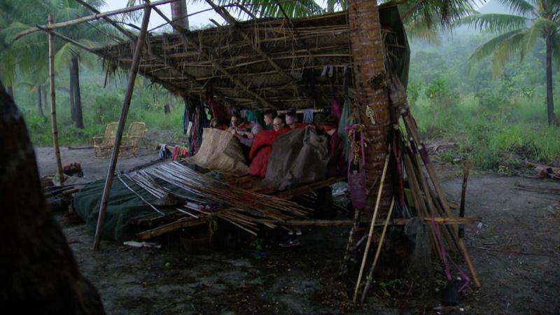 Rain comes down hard on the entire Orkun Tribe.