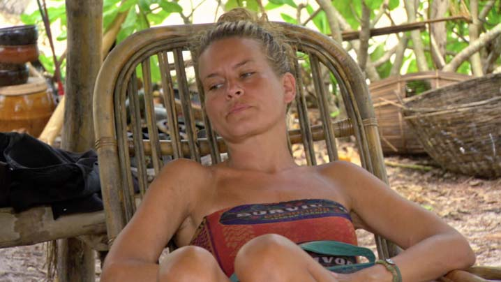 Abi-Maria relaxes at camp before the next Tribal Council.