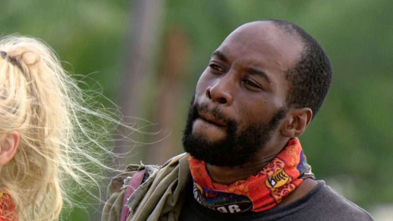 Jeremy keeps his eye on the prize during the first of three challenges in the finale.