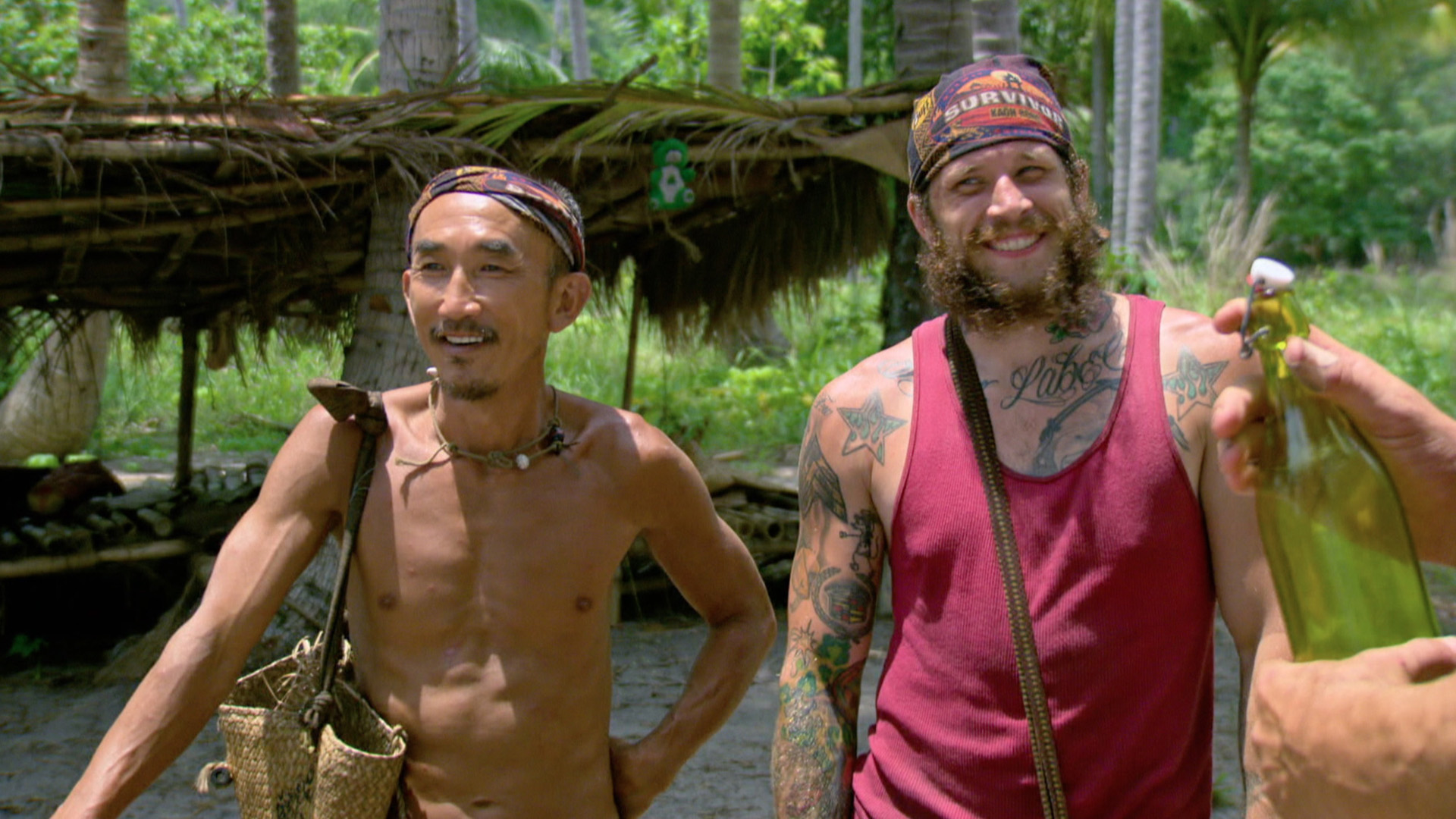 Tai and Jason share a few smiles in between challenges.